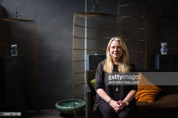 This picture taken November 9 2018 shows US author Cheryl Strayed posing during an interview with AFP in Hong Kong Bestselling author Cheryl Strayed...