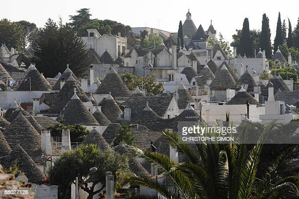 This picture taken on 21 May 2009 shows the 'trulli' house of the village of Arberobello in the southern region of Apulia The 'trulli' houses...