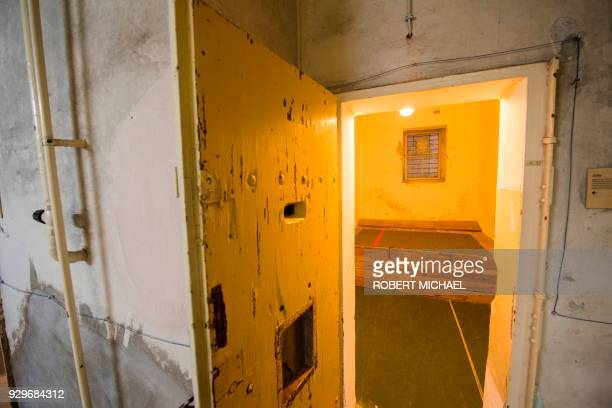 This picture taken on 8 March 2018 shows the Soviet Underground Prison in the eastern German city Dresden where Vladimir Putin lived and worked as a...