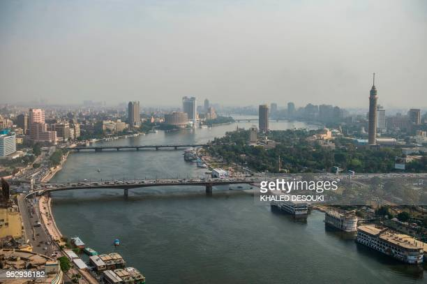 This picture taken on April 29 2018 shows the river Nile in the Egyptian capital Cairo
