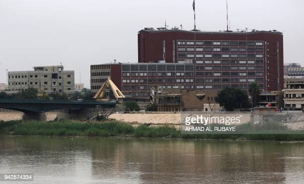 This picture taken on April 6 shows the Iraqi Ministry of Planning in the Green Zone in Baghdad Fifteen years ago on April 9 the USled coalition...