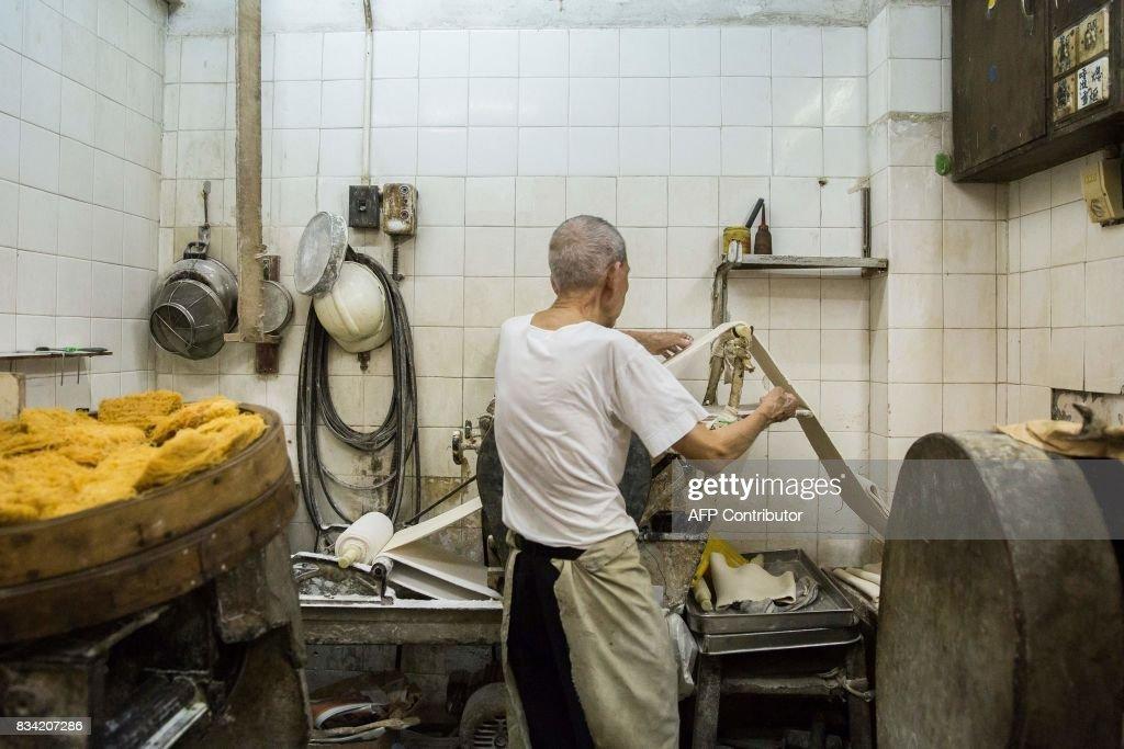 HONG KONG-LIFESTYLE-FOOD-NOODLES-BUSINESS : News Photo