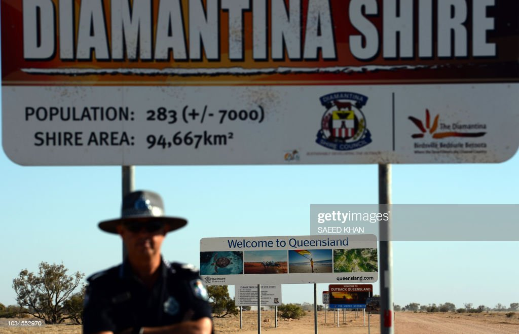 AUSTRALIA-POLICE-RURAL-BIRDSVILLE-OFFBEAT-LIFESTYLE : News Photo