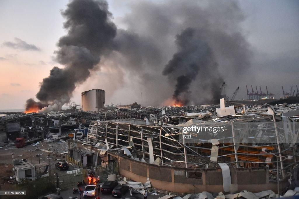 TOPSHOT-LEBANON-BLAST : Nieuwsfoto's