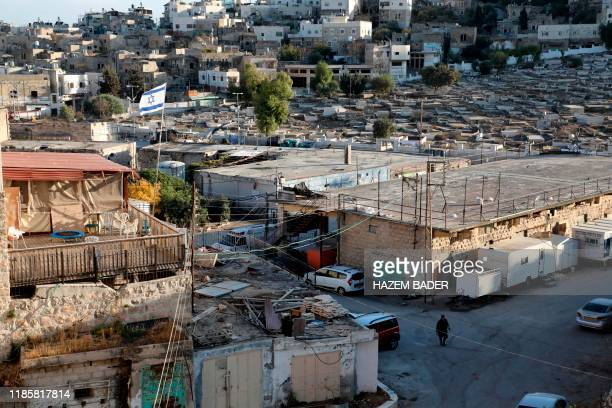 This picture taken on December 1 2019 shows a view of an old market building along alShuhada street in the flashpoint city of Hebron in the occupied...