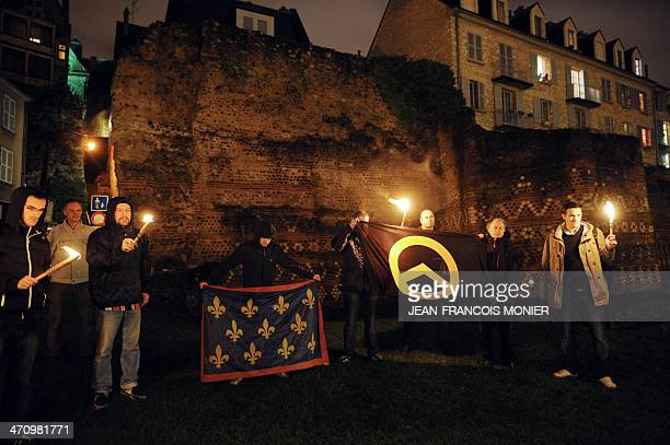 This picture taken on December 12, 2012 shows Louis Nogues , the Front national far-right party's candidate to the March 2014 municipal elections in...