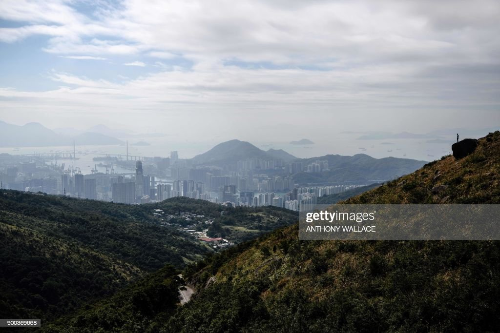 HONG KONG-LIFESTYLE-ENVIRONMENT-NATURE-HIKING-RUNNING : Photo d'actualité