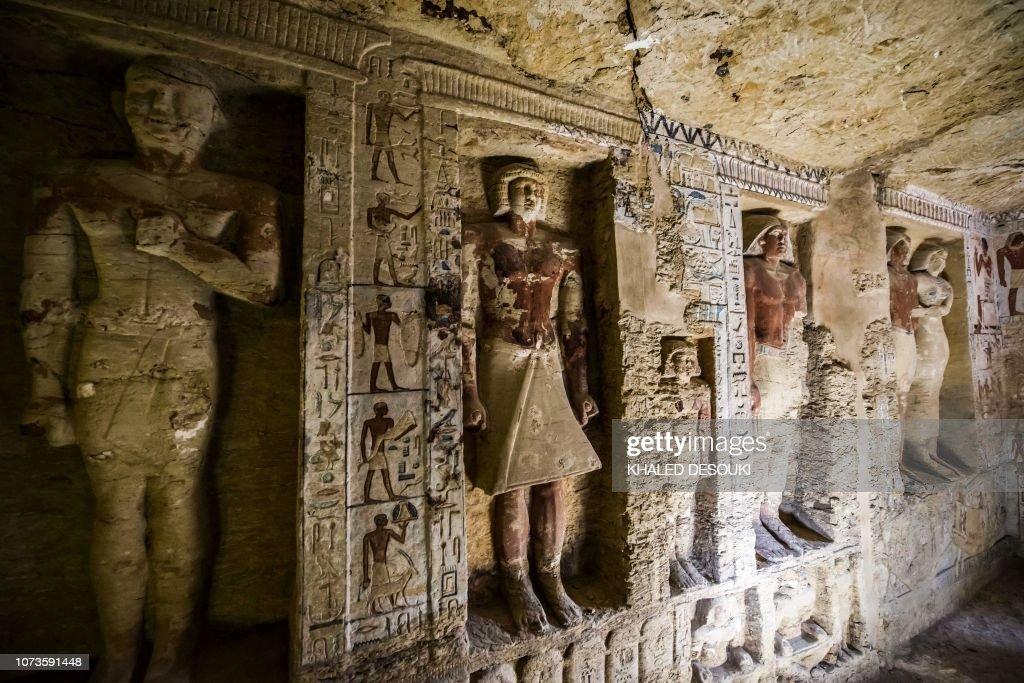 TOPSHOT-EGYPT-ARCHAEOLOGY : News Photo