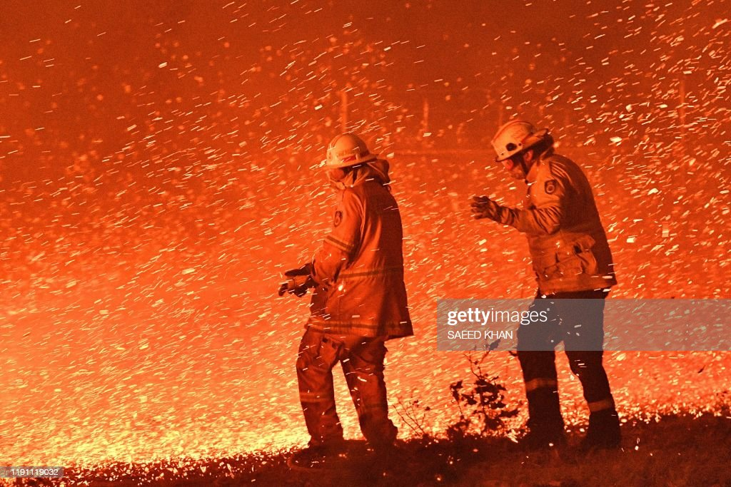 Australia-fire-climate-environment-AUSTRALIA-WEATHER-FIRES : News Photo