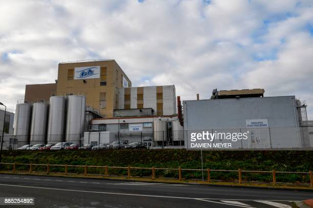 This picture taken on December 4 2017 shows the Celia dairy company's infant milk factory that belongs to the LNS Lactalis group in Craon western...