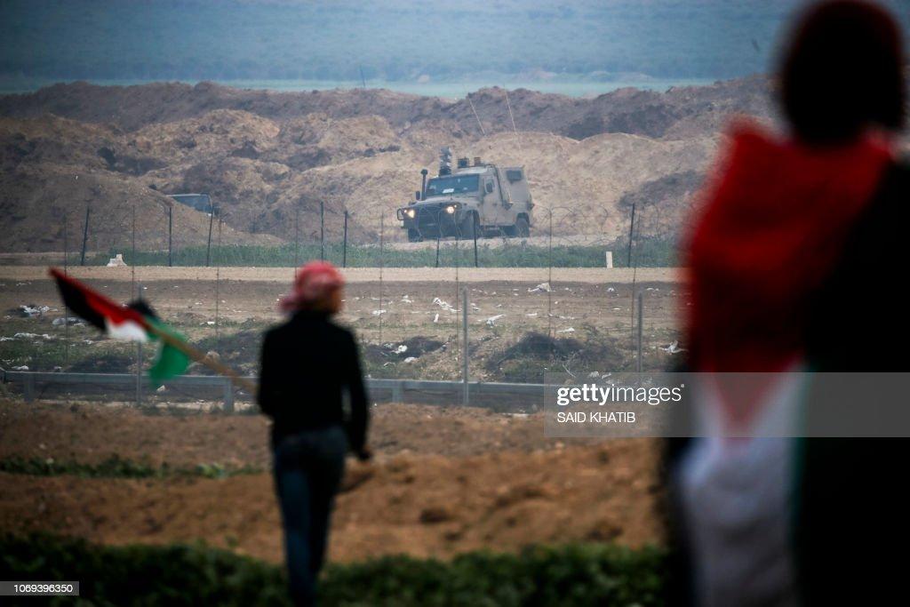 PALESTINIAN-ISRAEL-CONFLICT-GAZA-DEMO : News Photo