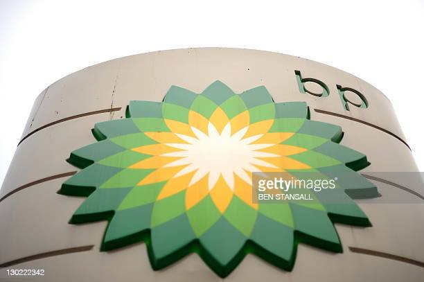 This picture taken on February 1 2011 shows the BP logo at a petrol station in central London British energy giant BP said on October 25 2011 that...