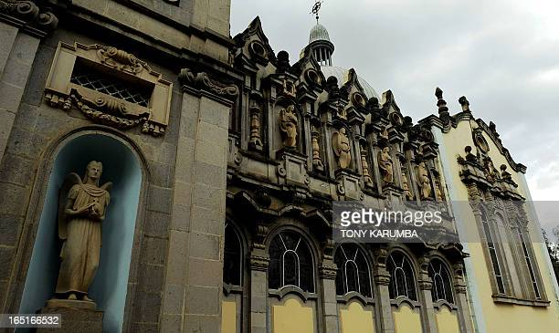 This picture taken on February 1 2011 shows the Holy Trinity Cathedral in the Ethiopian capital Addis Ababa Known in Amharic as Kidist Selassie is...