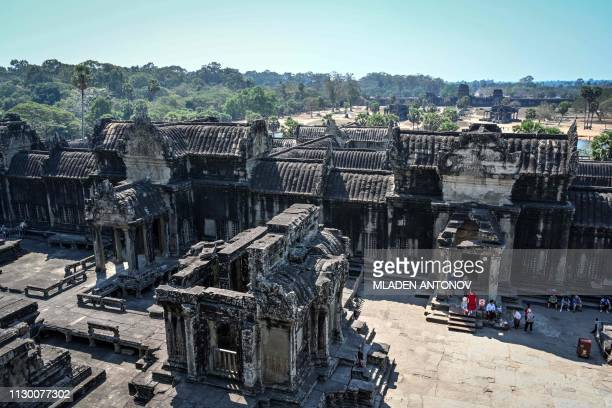 This picture taken on February 13, 2019 shows the Angkor Wat temple in Siem Reap.