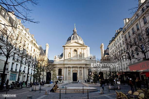 This picture taken on February 16 2010 in Paris shows the square in front of the Sorbonne university AFP PHOTO LOIC VENANCE
