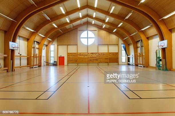 this picture taken on February 2016 shows the gym at Skien prison some 130 km south west of Oslo where Norwegian mass killer Anders Behring Breivik...