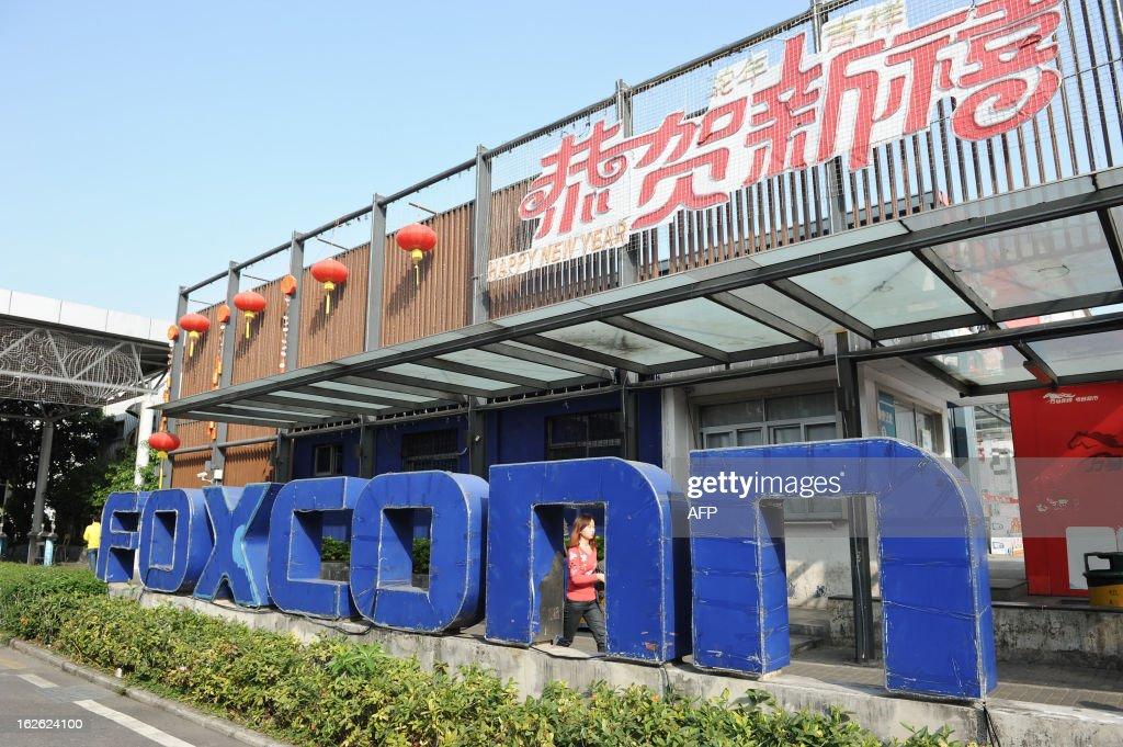 CHINA-TAIWAN-US-LABOUR-COMPANY-FOXCONN-APPLE : News Photo