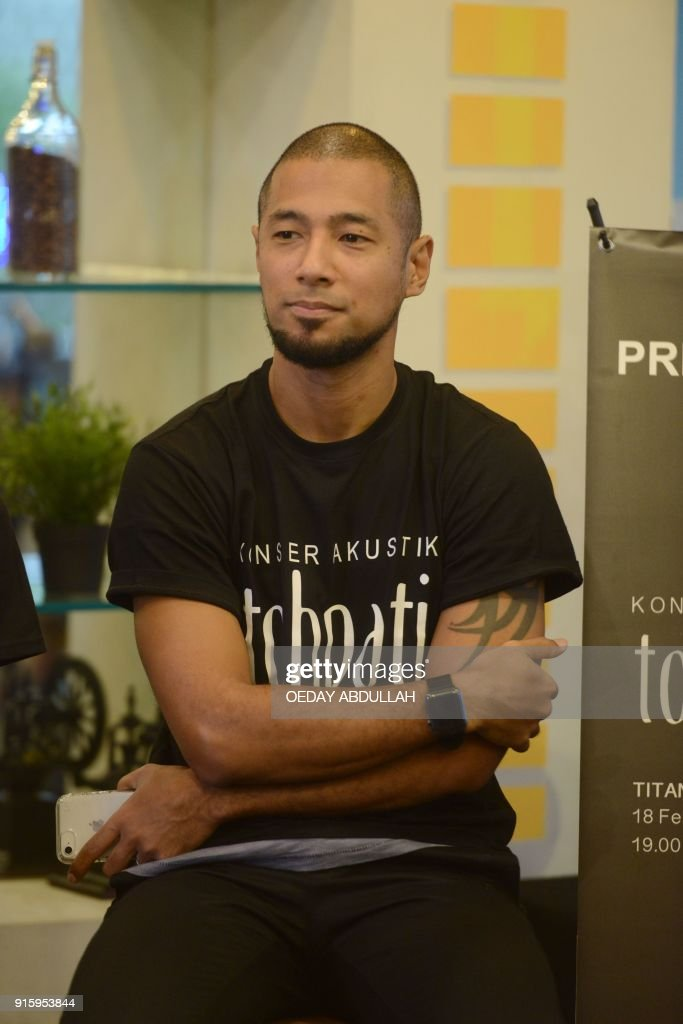 This picture taken on February 8, 2018 shows Indonesian singer Marcell Siahaan during a promotional event in Jakarta. / AFP PHOTO / Oeday Abdullah