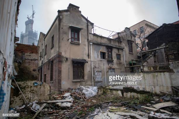 This picture taken on January 10 2017 shows the Hainai House a former military brothel in Shanghai's Hongkou district Mainstream historians agree...