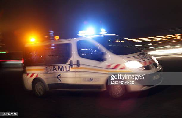 This picture taken on January 19 2010 shows a car of the emergency ambulance service in Paris AFP PHOTO LOIC VENANCE