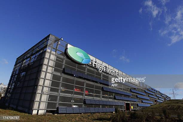This picture taken on January 20 2011 shows the Eindhoven Hight Tech Campus Residents and visitors to the Campus meet daily in the Strip the beating...