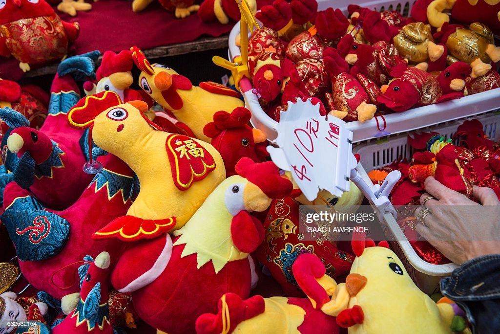 HONG KONG-CHINA-LIFESTYLE-CULTURE-ASTROLOGY-NEW YEAR-TRUMP : News Photo