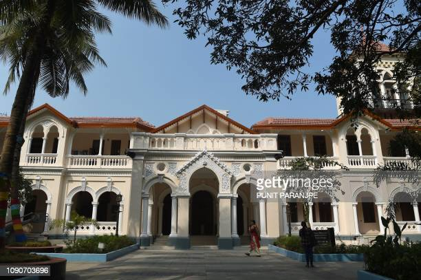 This picture taken on January 22 2019 shows a general view of the National Museum of Indian Cinema the country's first museum showcasing the history...