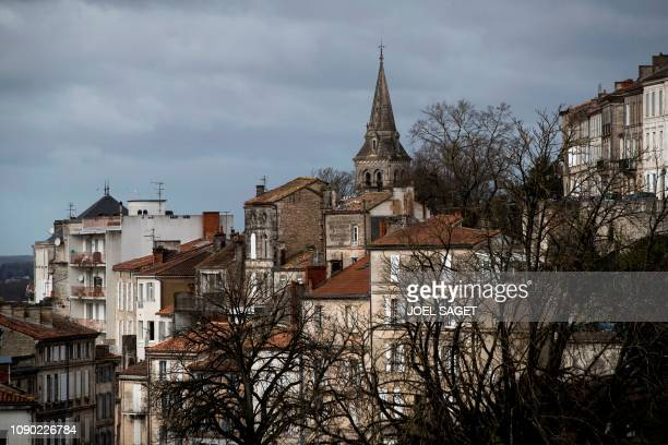 This picture taken on January 27 2019 shows a general view of the city centre of Angouleme western France