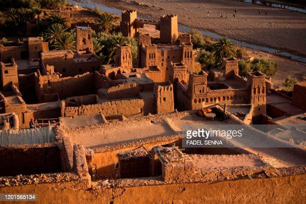 This picture taken on January 27 2020 shows a view of the Kasbah of AitBenHaddou where scenes depicting the fictional city of Yunkai from the hit HBO...