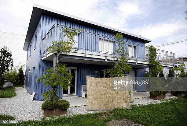 This picture taken on July 14 2009 shows the building of the assisted suicide clinic Dignitas in Pfaeffikon near Zurich on July 14 2009 A renowned...