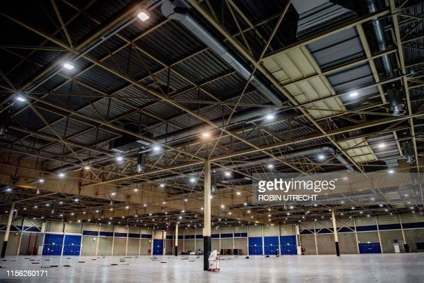 This picture taken on July 17 2019 shows a view of the interior of MECC congress centre one of the two nominees in the bid to host the 2020...