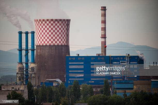 This picture taken on July 29, 2019 shows the US Steel Kosice steel-mill in Kosice, eastern Slovakia. - The United States Steel Corporation's...