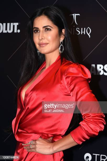 This picture taken on July 31 2018 shows Bollywood actress Katrina Kaif poses as she arrives to attend the Vogue Beauty Awards 2018 in Mumbai