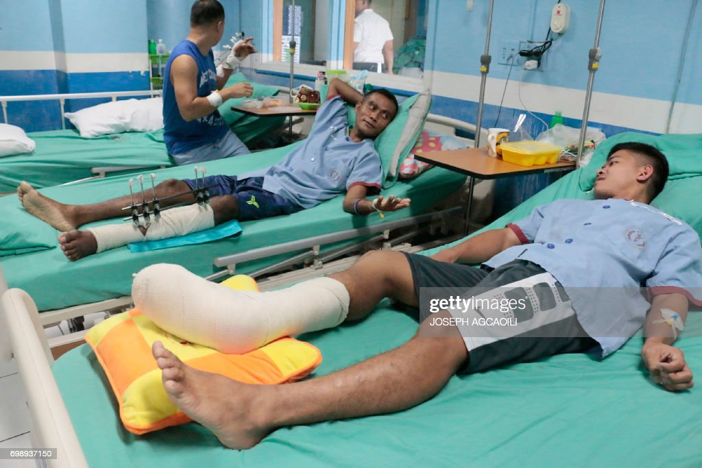 PHILIPPINES-MILITARY-CONFLICT-UNREST : News Photo