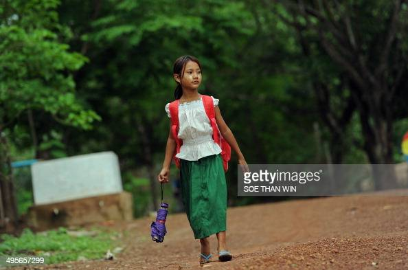 This Picture Taken On June 4 2014 Shows A Young Myanmar School Girl News Photo Getty Images