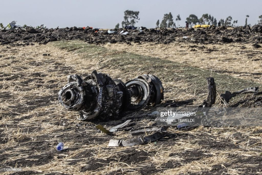 TOPSHOT-KENYA-ETHIOPIA-ACCIDENT-AIRPLANE : News Photo
