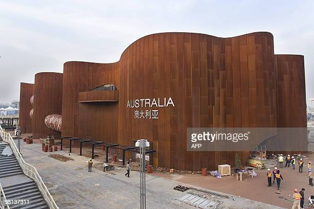 This picture taken on March 12 2010 shows the Australian pavilion at the site of the 2010 World Expo in Shanghai After the 2008 Beijing Olympics...