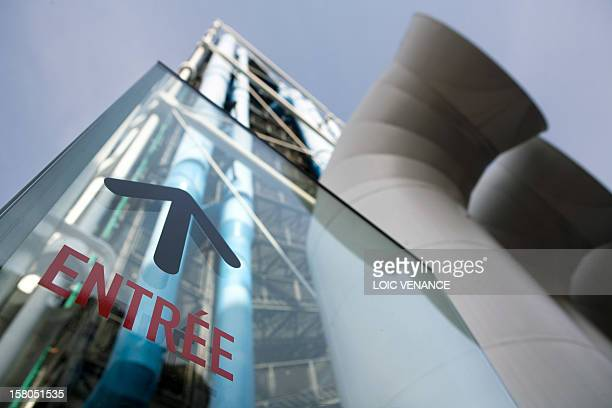 This picture taken on March 16 2010 in Paris shows the facade of the Pompidou art center AFP PHOTO LOIC VENANCE