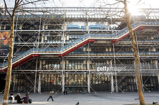 This picture taken on March 16, 2010 in Paris shows the facade of the Pompidou art center. AFP PHOTO LOIC VENANCE