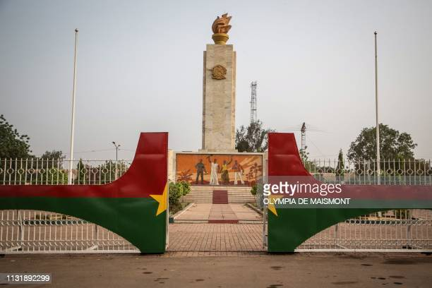 This picture taken on March 20, 2019 shows the obelisk on the nation square in Ouagadougou.