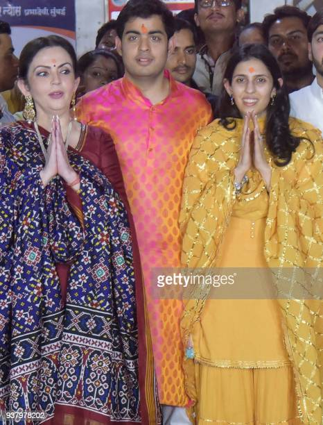 This picture taken on March 25 2018 shows Nita Ambani wife of Indian business magnate chairman managing director and largest shareholder of Reliance...