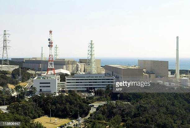 This picture taken on March 29, 2011 shows Chubu Electric Power's Hamaoka nuclear power plant at Omaezaki city in Shizuoka prefecture, 200km west of...