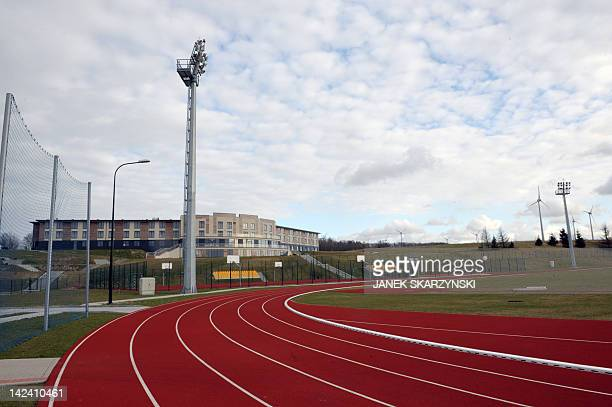This picture taken on March 29 2012 shows a training camp in the Mistral Sport hotel in Gniewino some 50 km from Gdansk where the Spanish national...