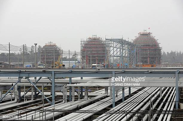 This picture taken on March 8 2008 shows the construction site of Vietnam's first oil refinery in Dung Quat central province of Quang Ngai AFP...