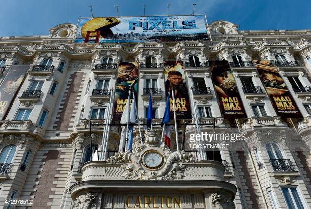 This picture taken on May 11 shows the facade of the Carlton Hotel in Cannes southeastern France AFP PHOTO / LOIC VENANCE