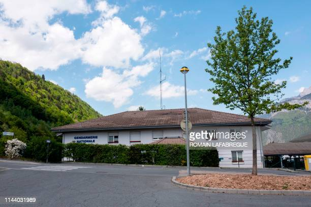 This picture taken on May 16, 2019 shows a general view of the Sallanches Gendarmerie where Jose Antonio Urrutikoetxea Bengoetxea also known as Josu...