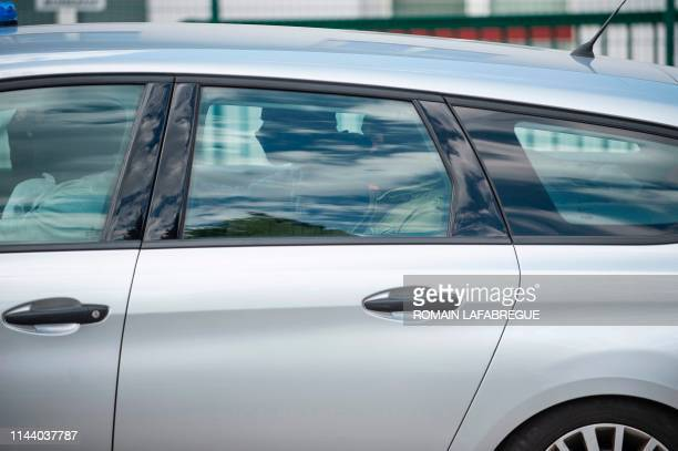 This picture taken on May 16 2019 shows the Gendarmerie vehicle in which Jose Antonio Urrutikoetxea Bengoetxea also known as Josu Ternera one of the...