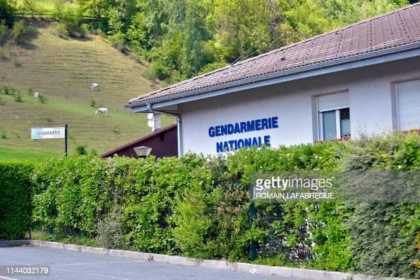 This picture taken on May 16 2019 shows the Sallanches Gendarmerie where Jose Antonio Urrutikoetxea Bengoetxea also known as Josu Ternera one of the...