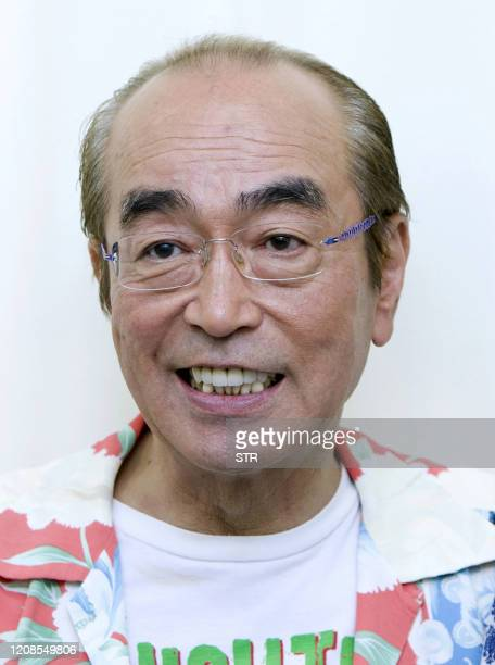This picture taken on May 30 2013 shows Japanese comedian Ken Shimura at an undisclosed location in Japan It was announced on March 30 2020 that...