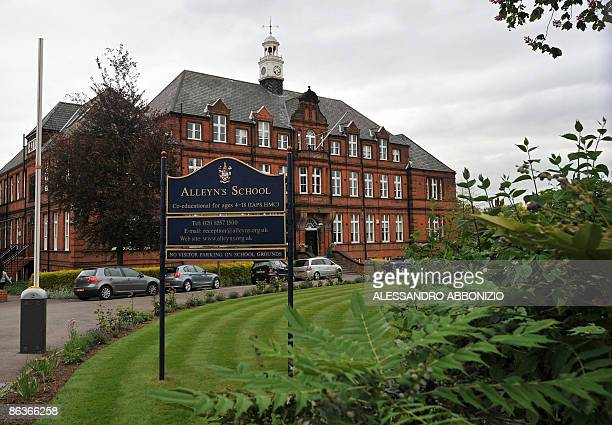 This picture taken on May 4 2009 shows a general view of Alleyn's school in Dulwich southeast London where five pupils in year seven were confirmed...